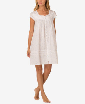 Eileen West Lace-Trim Short Nightgown