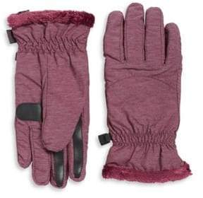 Isotoner Faux Fur-Lined Packable Gloves