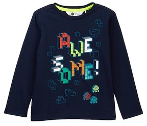 Petit Lem Space Invader Long Sleeve Tee (Toddler & Little Boys)