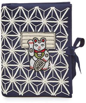 Olympia Le-Tan Manekineko Embellished Fabric Clutch
