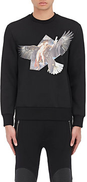 Neil Barrett MEN'S REUBEN'S EAGLE NEOPRENE SWEATSHIRT
