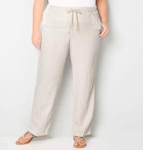 Avenue Tan Stripe Linen Pant 28-32