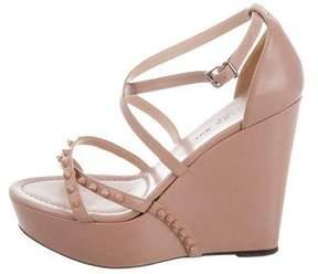 Barbara Bui Studded Wedge Sandals