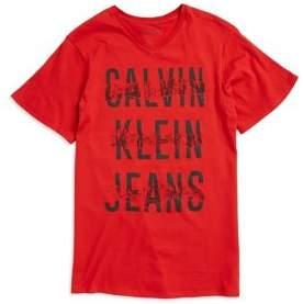 Calvin Klein Jeans Boy's Cotton Logo Tee