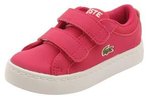 Lacoste Infant Straightset Lace 316 Sneakers In Dark Pink.