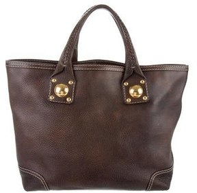 Gucci Leather Sunset Tote - BROWN - STYLE