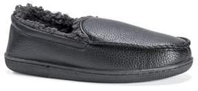 Muk Luks Men's Moccasin-black Slip-on Loafer.