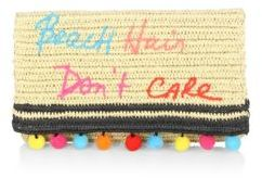 Rebecca Minkoff Beach Hair Don't Care Straw Clutch - NATURAL - STYLE