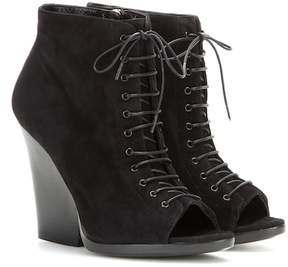 Burberry Virgina Ari suede open-toe ankle boots