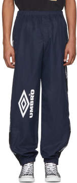 Vetements Navy Umbro Edition Logo Track Pants