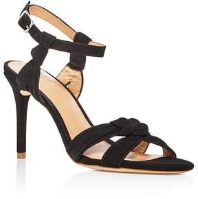Halston Women's Melanie Suede Knotted High Heel Sandals