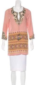 Calypso Silk Embellished Tunic