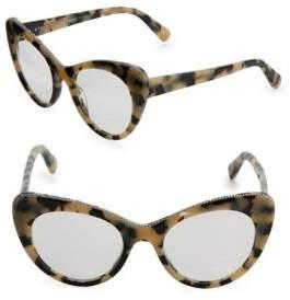 Stella McCartney 49MM Beige Tortoishell Cat-Eye Glasses