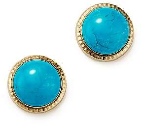 Bloomingdale's Turquoise Bezel Set Stud Earrings in 14K Yellow Gold - 100% Exclusive