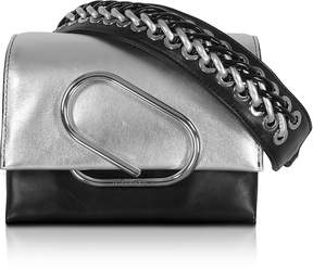 3.1 Phillip Lim Alix Micro Sport Silver and Black Leather Crossbody Bag