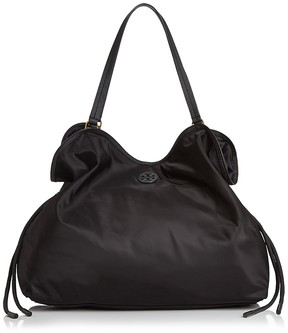 Tory Burch Scout Nylon Tote - BLACK/GOLD - STYLE