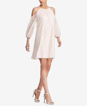 American Living Cold-Shoulder Georgette Dress