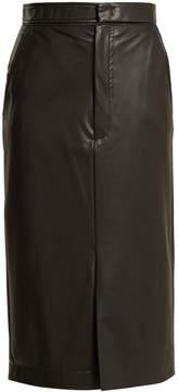 Joseph Keller faux-leather midi pencil skirt
