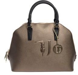 Trussardi Women's Bronze Faux Leather Handbag.