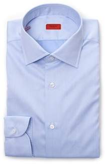 Isaia Men's Blue Cotton Shirt.