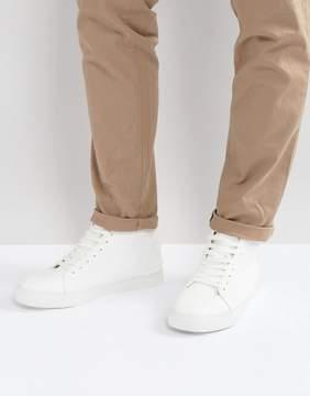 Asos DESIGN Vegan High Top Sneakers In White