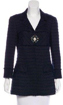Chanel Frayed Tweed Jacket