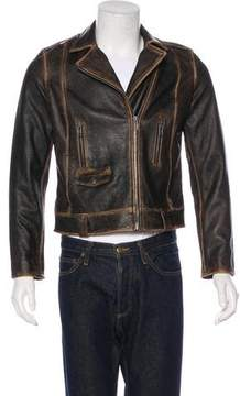 Frame Distressed Leather Jacket w/ Tags