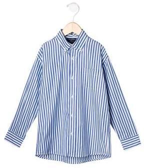 Oscar de la Renta Boys' Striped Button-Up Top