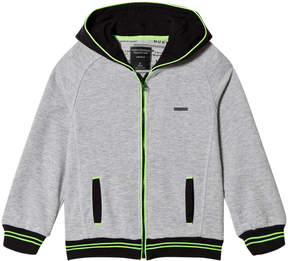 Mayoral Grey Zip Through Hoodie with Lime Trim