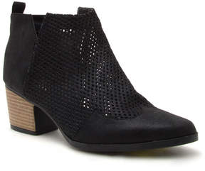 Qupid Black Nero Mesh Bootie - Women