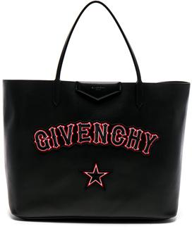 Givenchy Gothic Logo Antigona Tote in Black.