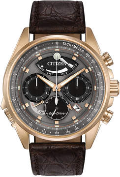 Citizen Men's Chronograph Eco-Drive Calibre 2100 Brown Leather Strap Watch 44mm AV0063-01H, Limited Edition