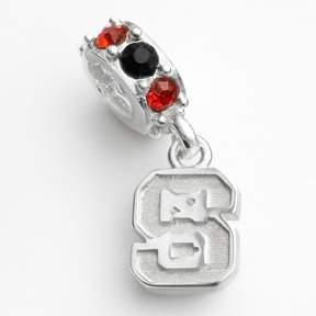 Dayna U North Carolina State Wolfpack Sterling Silver Crystal Logo Charm