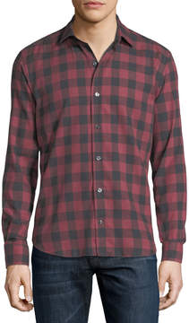 Neiman Marcus Culturata Buffalo Check Cotton Shirt