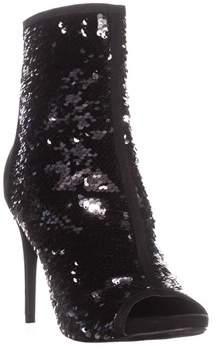 Thalia Sodi Ts35 Rese2 Peep Toe Ankle Booties, Black.