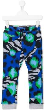 Kenzo tiger striped track pants