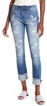Seven7 Embroidered Slim Straight Leg Jeans