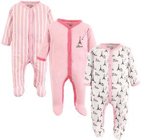 Luvable Friends Pink 'Paris' Playsuit Set - Infant