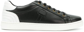 Dolce & Gabbana Kids ribbed detail lace-up sneakers
