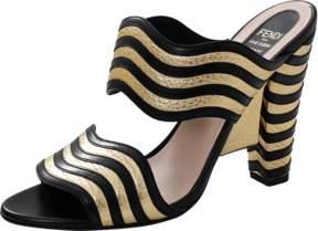 FENDI Gold Wave Slide Sandal