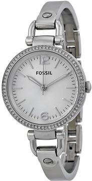 Fossil Georgia Glitz Silver Dial Ladies Watch