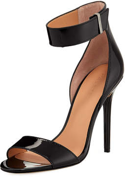 Halston Marley Patent Ankle-Wrap Pump