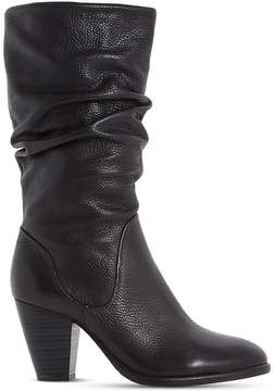 Dune Ladies Black Comfortable Rossy Leather Calf Boots