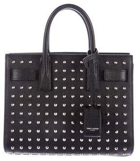 Saint Laurent Studded Nano Sac de Jour - BLACK - STYLE