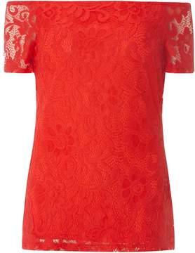 Dorothy Perkins **Tall Red Lace Bardot Top