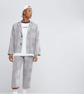 Reclaimed Vintage Inspired Relaxed Cropped PANTS In Check