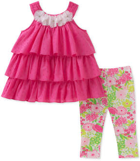 Kids Headquarters 2-Pc. Ruffle Tunic & Leggings Set, Little Girls
