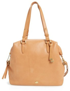 Brahmin Charleston Delaney Southcoast Leather Tote - Beige