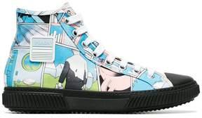 Prada comic print sneakers