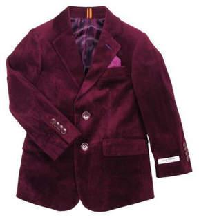 Isaac Mizrahi Burgundy Holiday Blazer
